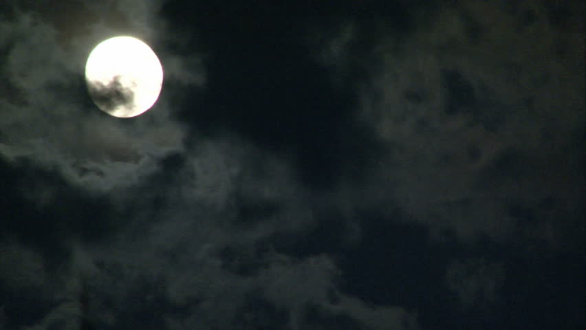 Flowing Moon is hiding behind the black clouds. Time lapse. | Shutterstock HD Video #438721