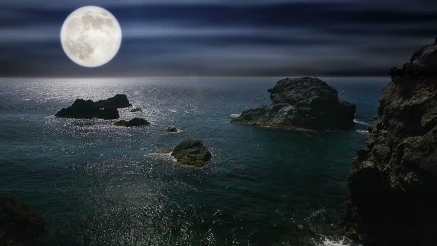 original landscape moon night - photo #44