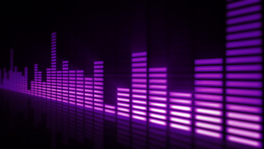 Music Bars Wallpaper: Music Control Levels In Purple Color Bars. Audio Equalizer