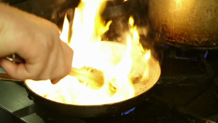 Cooking Chicken over Fire - HD stock video clip