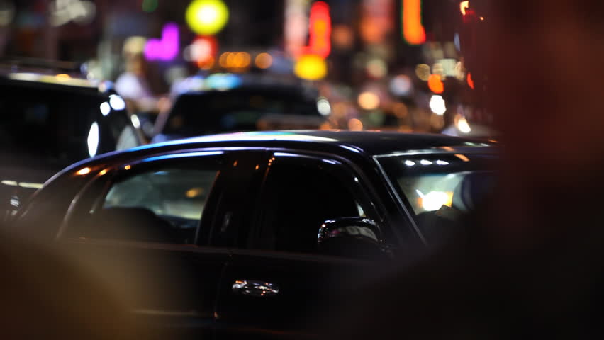 Blurred traffic scene on Times Square Manhattan, New York City / HD1080 /