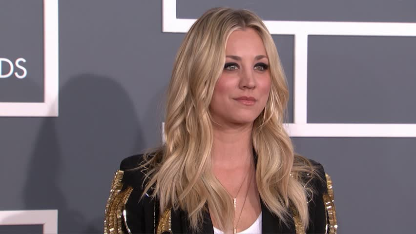 LOS ANGELES - February 10, 2013: Kaley Cuoco at the Grammy Awards 2013 in the Staples Center in Los Angeles February 10, 2013