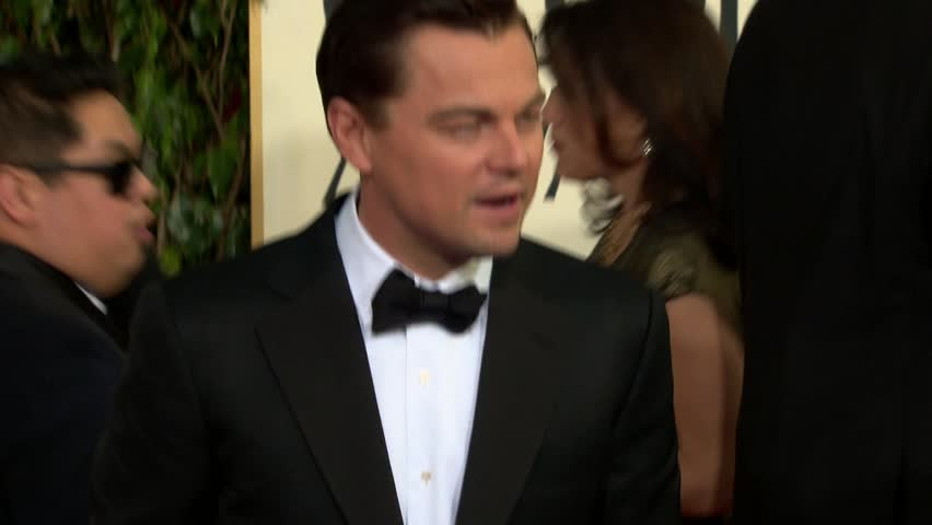 BEVERLY HILLS - January 13, 2013: Leonardo DiCaprio at the Golden Globe Awards 2013 in the Beverly Hilton Hotel in Beverly Hills January 13, 2013