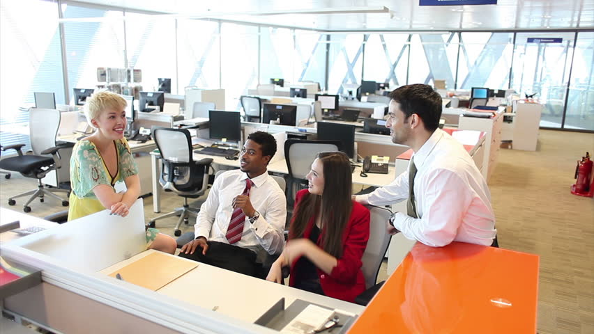 Portrait Of Young Business Team At Work. Bright ...  |Relaxed Business Person