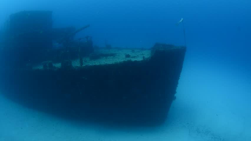 Caribbean shipwreck.
