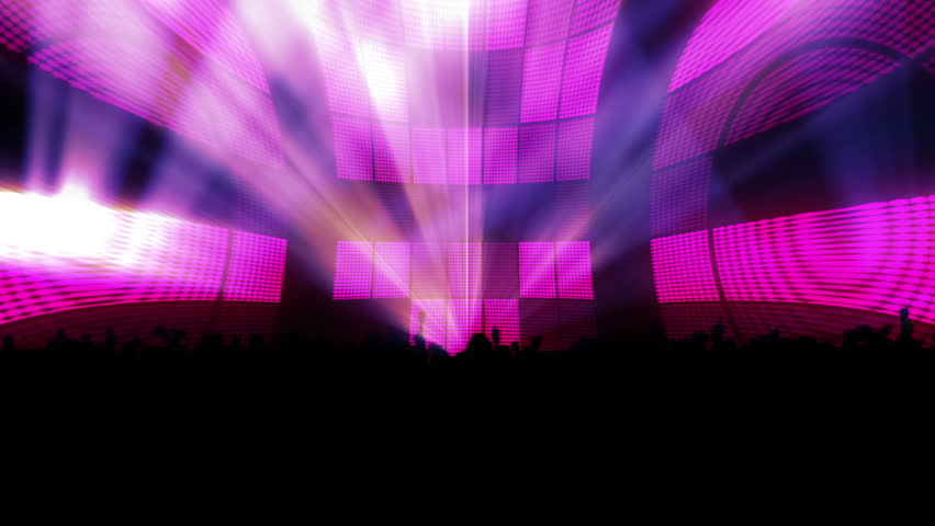 Digital animation of purple squares lighting up like a dance floor  - HD stock footage clip