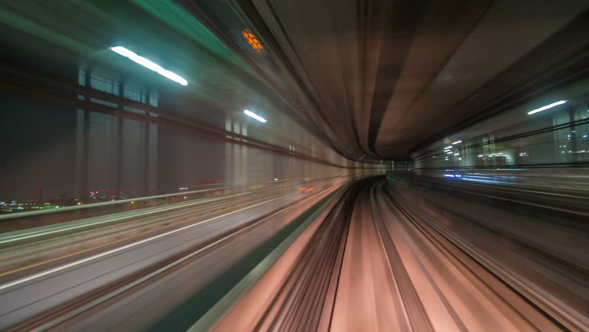 Time lapse from the Yurikamome, an automated guideway transit service operating along Tokyo Bay in Tokyo, Japan.
