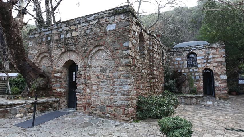 The House of the Virgin Mary (Meryemana) on Mt. Koressos ...