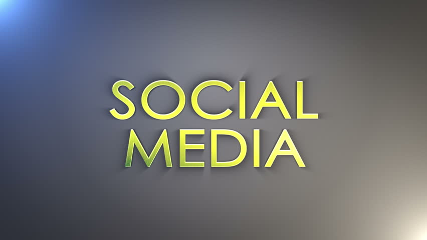 Social Media, Gold Text with Final Explosion, Loop