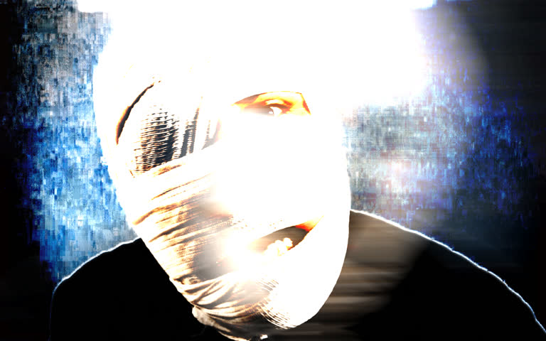 mummy style zombie with skake and blur animated background
