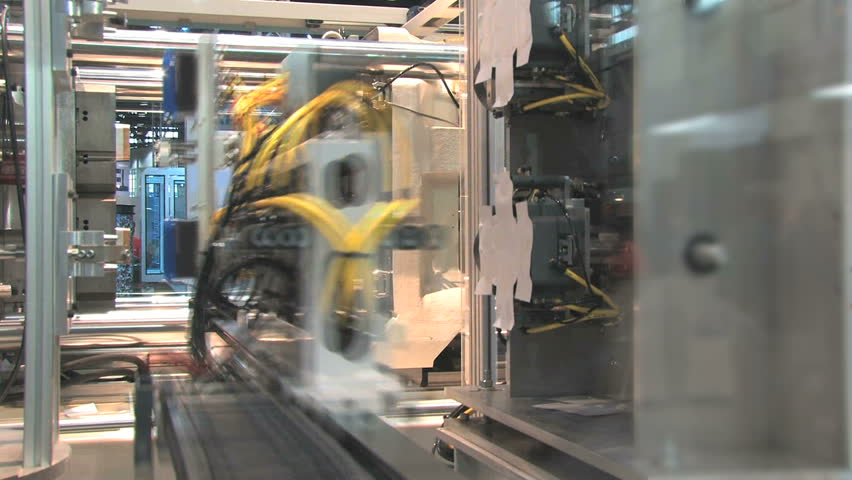 Automated machinery from a factory  - HD stock footage clip