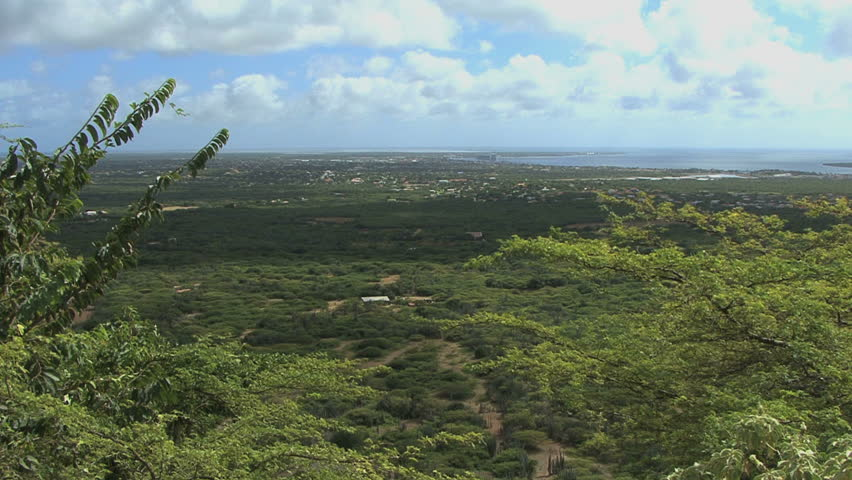 Bonaire view of island - HD stock footage clip