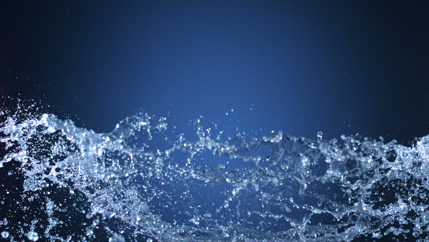 Water splash shooting with high speed camera, phantom flex.