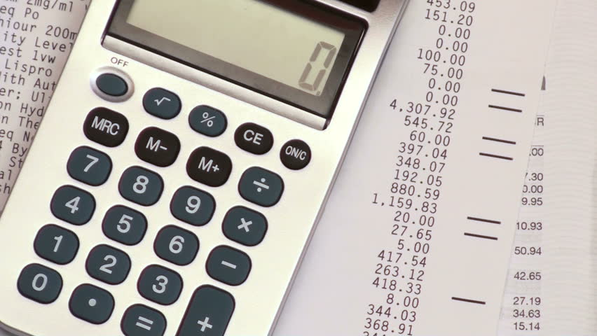 calculating numbers - HD stock footage clip