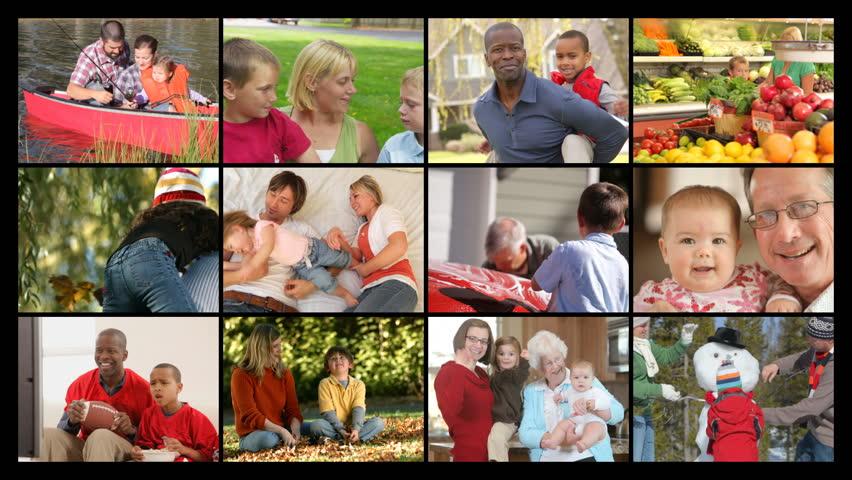 Montage of family scenes
