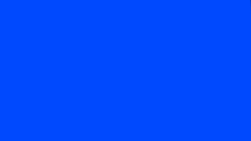 Handshake silhouette - blue - HD stock video clip