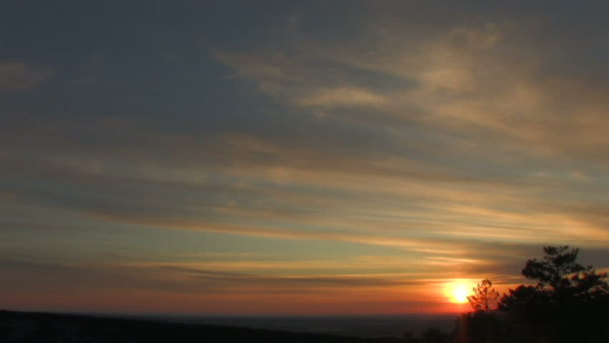 time lapse sunset with clouds Canon XH A1, FullHD, 1080p, 25fps, progressive scan. #473776