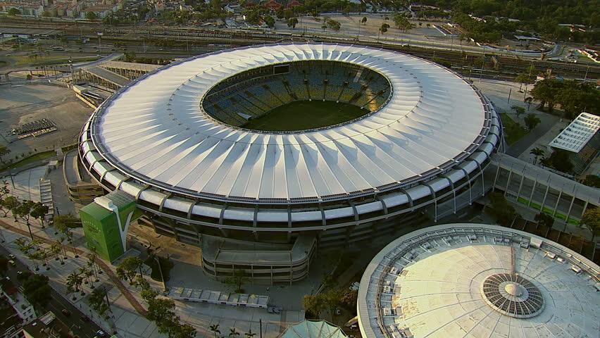 Aerial view of Maracana Stadium, Rio De Janeiro, Brazil