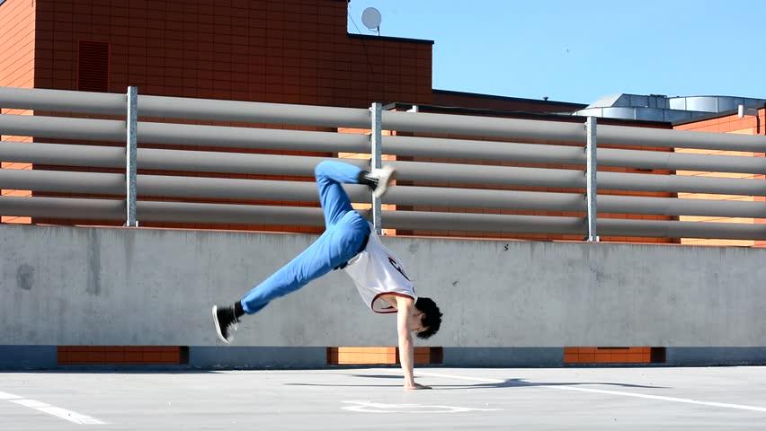 Breakdancer on the street