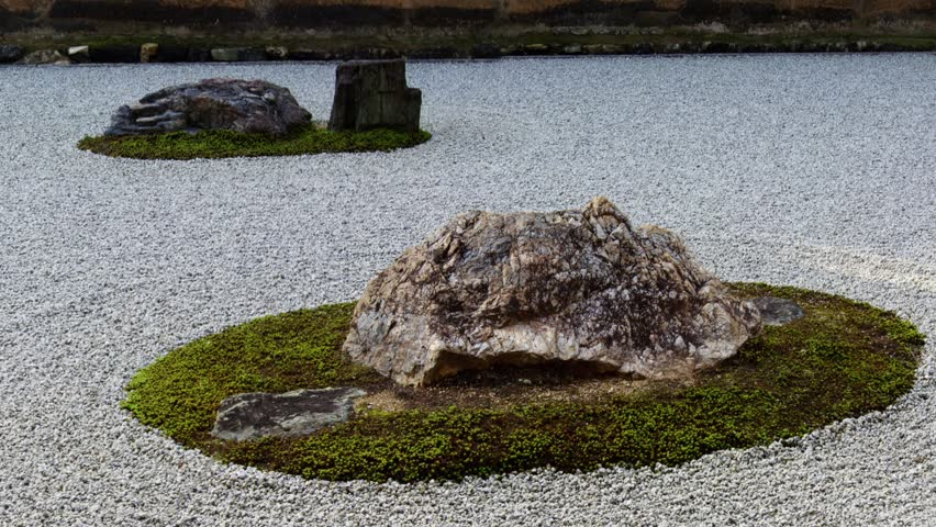 Landscaping Rock Yankton Sd : The famous rock garden at ryoanji a buddhist temple in kyoto japan fps can be retimed for