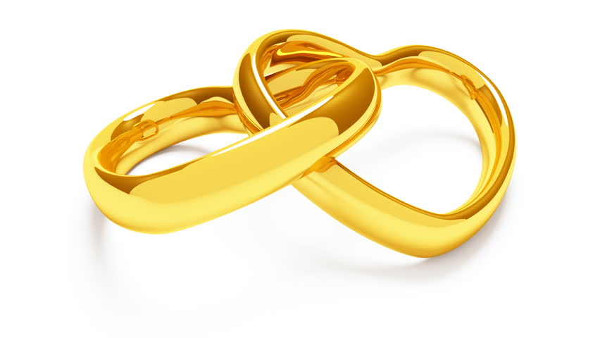 3d animated wedding rings in hd1080 stock footage video