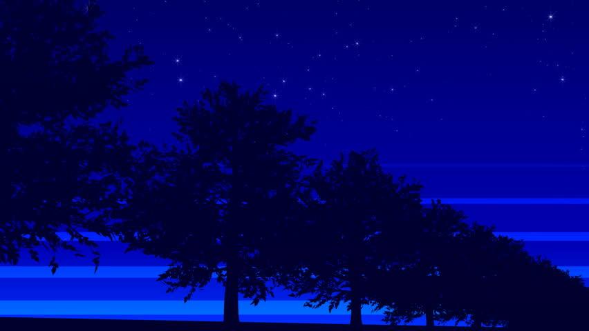 roadside tree. night - HD stock footage clip