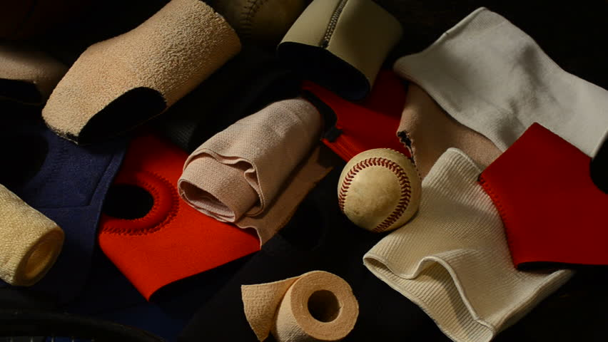 sports injury bandages and wraps with equipment