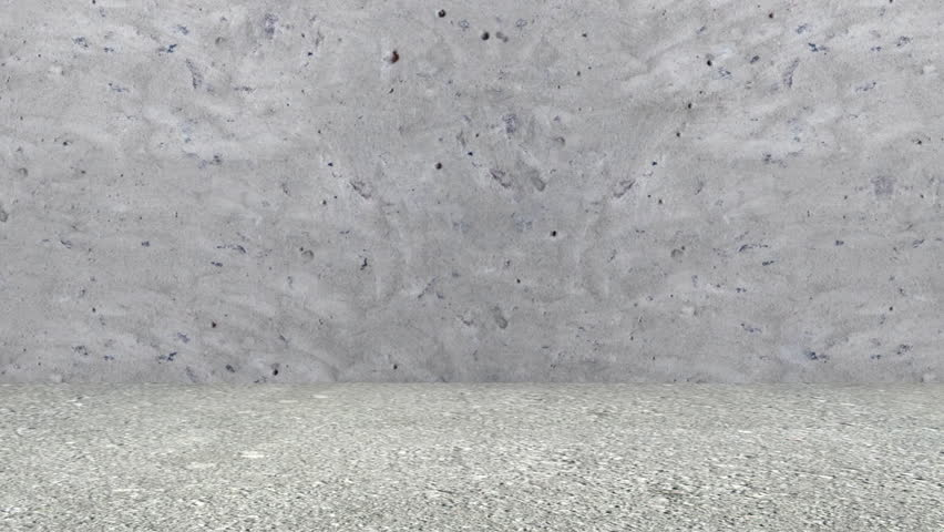 Animation of Broken Concrete Wall with Green Screen. Full HD Video Clip