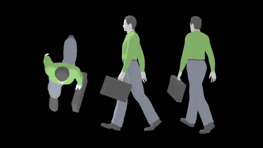 Person silhouette. - HD stock footage clip