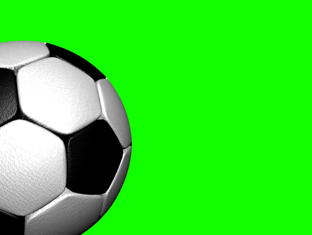 360 degree rotating-Green screen leather soccer ball