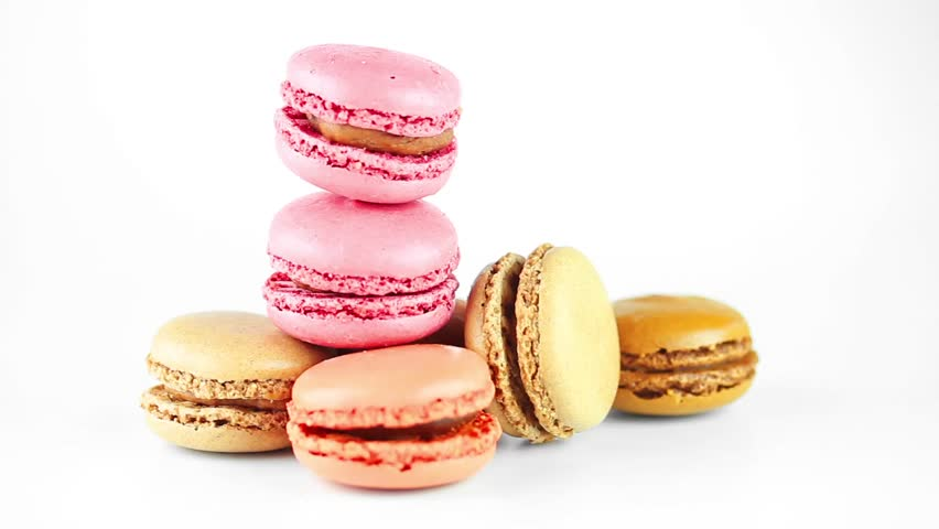 French macarons. - HD stock footage clip