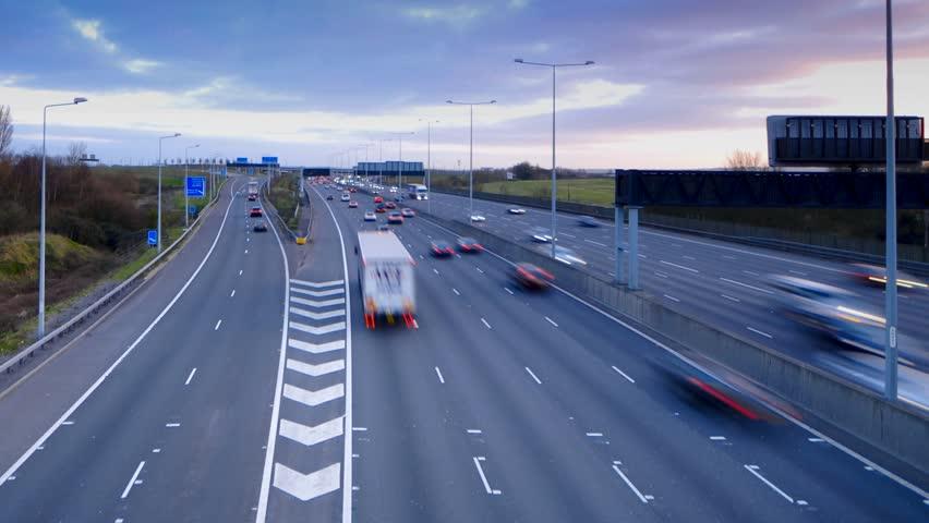 UK, England, London, M25 Motorway, Time-lapse