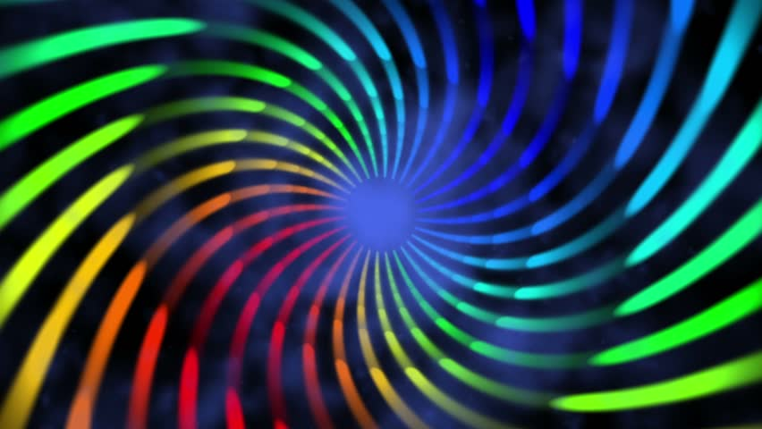 colorful hypnotic spiral iris vortex abstract motion background for use with music videos - HD stock video clip