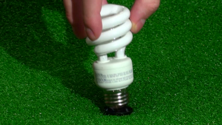 Changing light-bulbs - HD stock footage clip