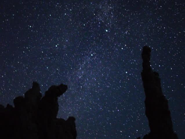 4K Astro Time Lapse of Mono Lake Tufa Formation during Sunrise