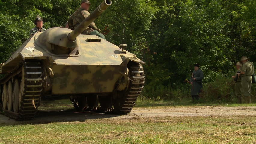 World War II Reenactment - German Military Tanks Shooting ...