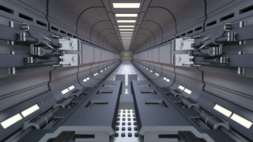 Sci-fi Gate green screen