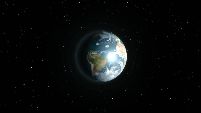 Earth in space - HD stock footage clip