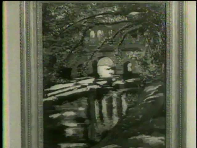 "l""Palladian Bridge"" by Winston Churchill at Smithsonian Institution National Museum of Natural History, Washington D.C. circa 1958 - MGM PICTURES, UNIVERSAL-INTERNATIONAL NEWSREEL, USA, filmed in 1958"