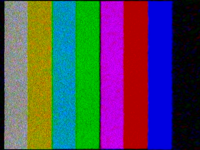 Pal Tv Test Color Bars Crash With Audio Stock Footage