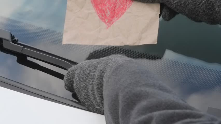 love affairs - message on a windshield