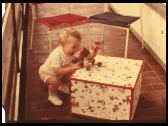 Jack-in-the-box (vintage 8 mm film) - HD stock footage clip