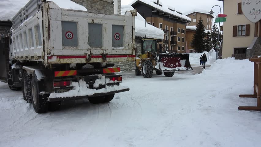 Madesimo Italy  City pictures : Madesimo Italy 0/13/2014: The snow storms of this winter caused a ...