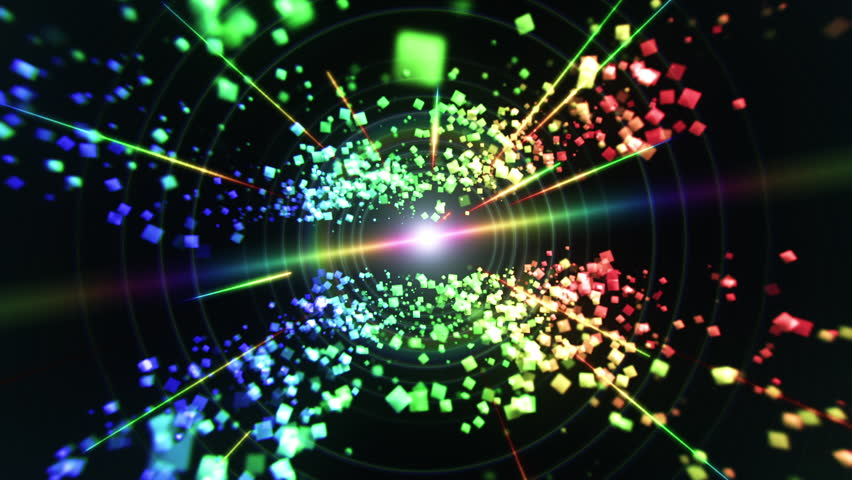 Rainbow cubes and laser lights traveling through space. This animation can be used for live event visuals, VJ performances, backgrounds, intros for tv and youtube shows, b-roll, art, or music videos.