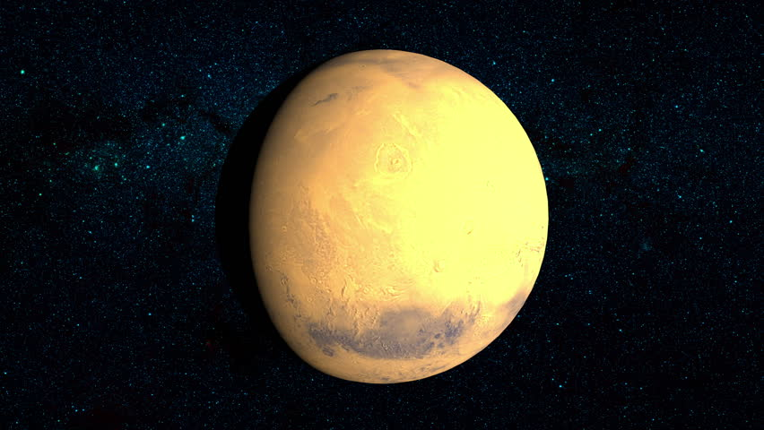 Planet Venus On A Beautiful Starry Background, Orbiting ...