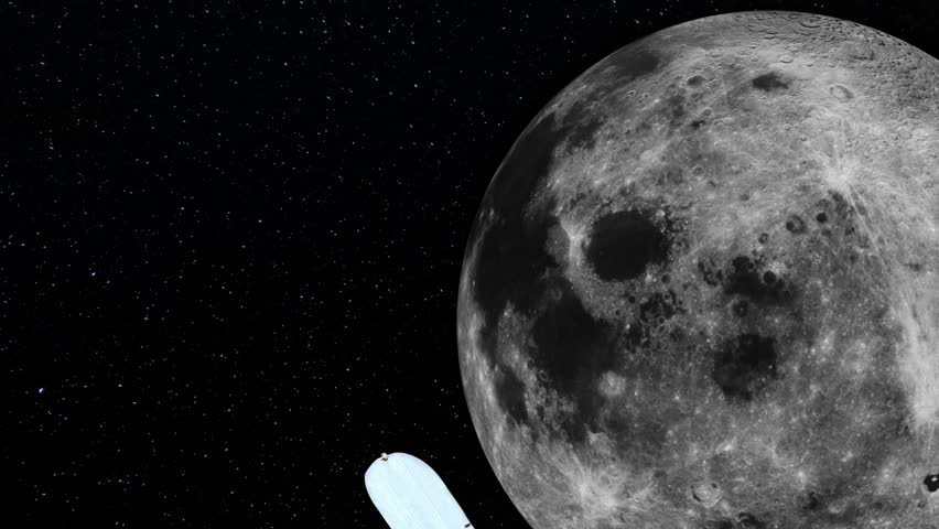 Hubble Space Telescope Passing Moon