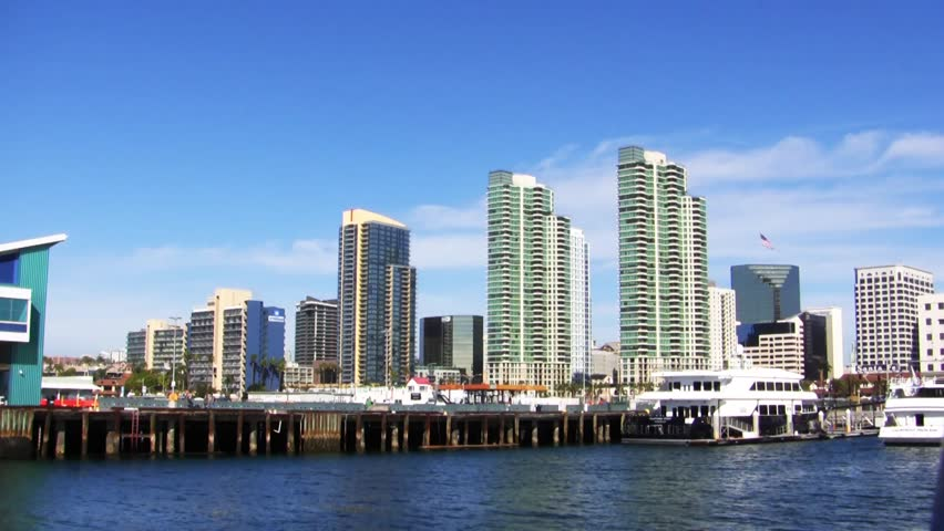Time Lapse of San Diego Skyline