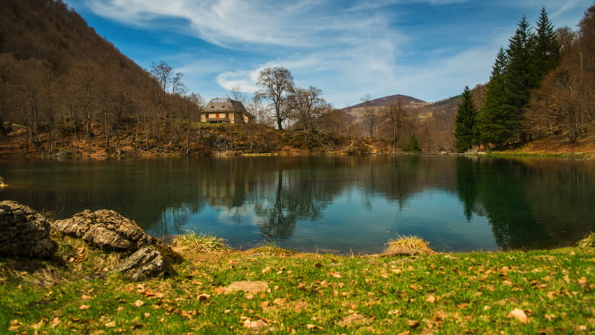 Bethmale lake view, France
