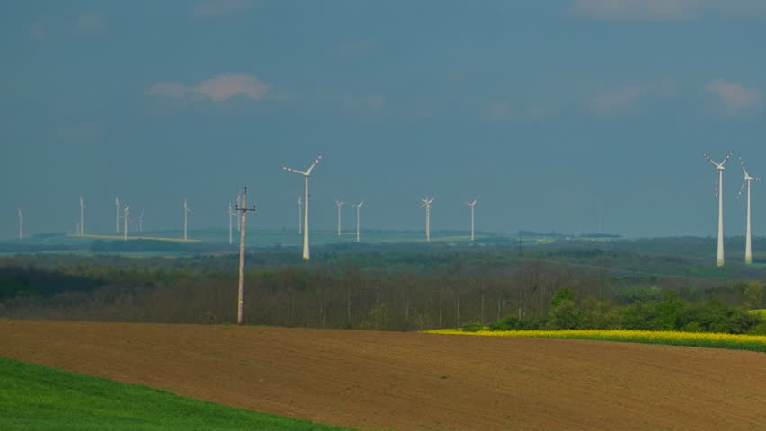 Filed with windmills time-lapse