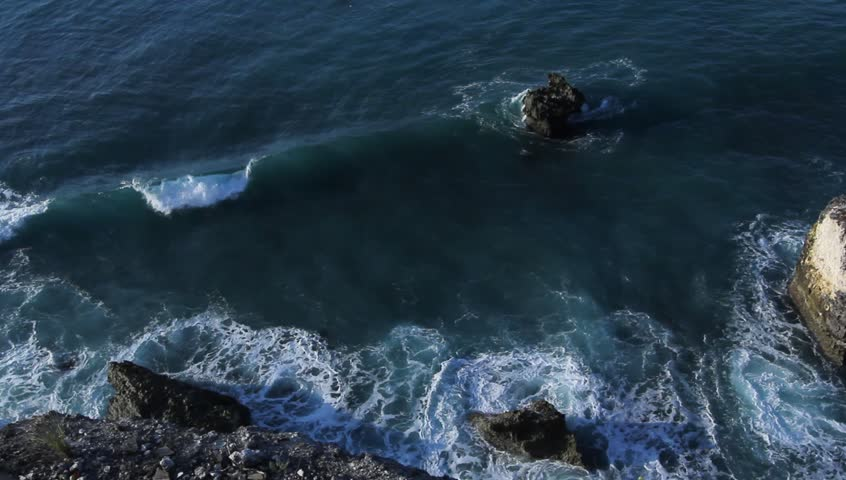 Sea View From the top Cliff - HD stock video clip